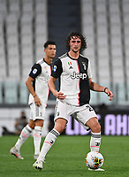 Calcio, Serie A: Juventus - Lazio, Allianz Stadium, July 20, 2020.<br /> Juventus' Adrien Rabiot action during the Italian Serie A football match between Juventus and Lazio at the Allianz stadium in Turin, July 20, 2020.<br /> UPDATE IMAGES PRESS/Isabella Bonotto