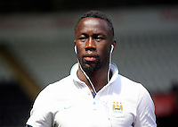Bacary Sagna of Manchester City arrives during the Swansea City FC v Manchester City Premier League game at the Liberty Stadium, Swansea, Wales, UK, Sunday 15 May 2016