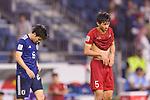 Doan Van Hau of Vietnam (R) and Endo Wataru of Japan (L) react after the AFC Asian Cup UAE 2019 Quarter Finals match between Vietnam (VIE) and Japan (JPN) at Al Maktoum Stadium on 24 January 2018 in Dubai, United Arab Emirates. Photo by Marcio Rodrigo Machado / Power Sport Images