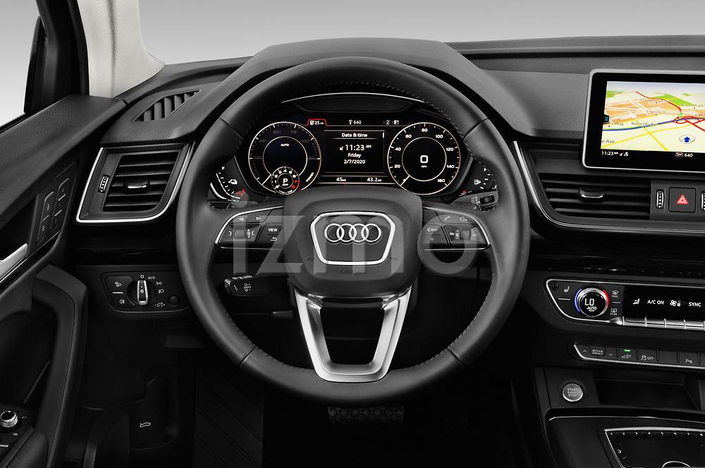 Car pictures of steering wheel view of a 2020 Audi Q5 Premium 5 Door SUV