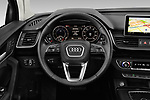 Car pictures of steering wheel view of a 2020 Audi Q5 Premium 5 Door SUV