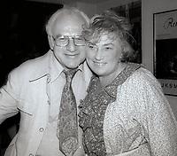Martin Abzug and wife Bella Abzug 1982<br /> Photo By Adam Scull/PHOTOlink.net