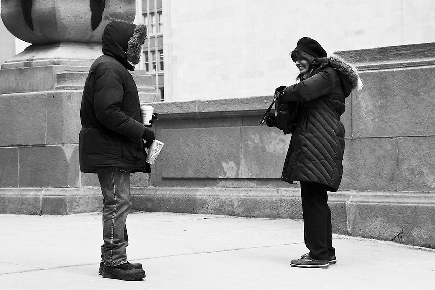 Images of homeless and desperate people trying to exist on the streets of Chicago Homeless people as seen on the streets of Chicago, Illinois.