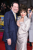 """Dame Joan Collins and husband Percy<br /> arrives for the premiere of """"The Time of Their Lives"""" at the Curzon Mayfair, London.<br /> <br /> <br /> ©Ash Knotek  D3239  08/03/2017"""