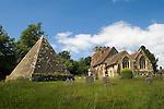 John Fuller of Brightling Sussex 1757-1834. The Pyramid Folly, Brightling St Thomas a Becket, Parish Church churchyard.