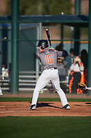 David Wilson (16) of Akins High School in Austin, Texas during the Baseball Factory All-America Pre-Season Tournament, powered by Under Armour, on January 13, 2018 at Sloan Park Complex in Mesa, Arizona.  (Mike Janes/Four Seam Images)