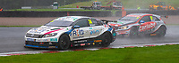 23rd August 2020; Oulton Park Circuit, Little Budworth, Cheshire, England; Kwik Fit British Touring Car Championship, Oulton Park, Race Day; Brown (34) leads  Daniel Rowbottom Carlube TripleR Racing Cataclean Mac Tools driving a Mercedes Benz A-Class