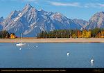 Colter Bay, Jackson Lake, Grand Tetons, Mount Moran, Bivouac Peak, Grand Teton National Park, Wyoming
