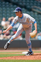 Starting pitcher Tim Melville #34 of the Wilmington Blue Rocks in action against the Winston-Salem Dash at the BB&T Park April25, 2010, in Winston-Salem, North Carolina.  Photo by Brian Westerholt / Four Seam Images
