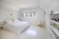 modern white attic
