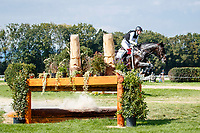 AUT-Lea Seigl rides Van Helsing P during the Cross Country. 2021 SUI-FEI European Eventing Championships - Avenches. Switzerland. Saturday 25 September 2021. Copyright Photo: Libby Law Photography