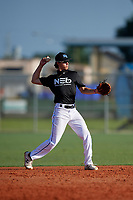 Anthony Silva (1) during the WWBA World Championship at Lee County Player Development Complex on October 8, 2020 in Fort Myers, Florida.  Anthony Silva, a resident of San Antonio, Texas who attends Clark High School, is committed to TCU.  (Mike Janes/Four Seam Images)