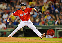 8 June 2012: Boston Red Sox pitcher Scott Atchison in action against the Washington Nationals at Fenway Park in Boston, MA. The Nationals defeated the Red Sox 7-4 in the opening game of their 3-game series. Mandatory Credit: Ed Wolfstein Photo