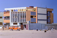 Kuwait March 1968.  Modern House under Construction in the Style Favored in the late 1960s.