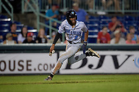 Hudson Valley Renegades Greg Jones (2) running the bases during a NY-Penn League game against the Mahoning Valley Scrappers on July 15, 2019 at Eastwood Field in Niles, Ohio.  Mahoning Valley defeated Hudson Valley 6-5.  (Mike Janes/Four Seam Images)