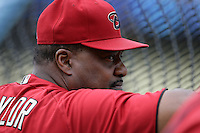 Arizona Diamondbacks hitting coach Don Baylor #25 before a game against the Los Angeles Dodgers at Dodger Stadium on September 13, 2011 in Los Angeles,California. Arizona defeated Los Angeles 5-4.(Larry Goren/Four Seam Images)