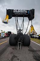 Apr 13, 2019; Baytown, TX, USA; NHRA top fuel driver Richie Crampton during qualifying for the Springnationals at Houston Raceway Park. Mandatory Credit: Mark J. Rebilas-USA TODAY Sports