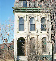 St. Louis: House (Ruin), Rutger St. 1 block N. Lafayette Park. Photo '77.