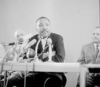 Martin Luther King at Schipholairport, HOLLAND, <br />  August 15, 1964<br /> <br /> Photographer Gelderen, Hugo van / Anefo