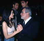 """ROMINA MONDELLO E ANGELO RIZZOLI<br /> PRESENTAZIONE SERIE TV """"LE RAGAZZE DI PIAZZA DI SPAGNA""""<br /> GILDA CLUB ROMA 1998"""