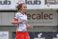 Geena Lisa Buyle (13) of Zulte-Waregem pictured during a female soccer game between SV Zulte - Waregem and Club Brugge YLA on the 13 th matchday of the 2020 - 2021 season of Belgian Scooore Womens Super League , saturday 6 th of February 2021  in Zulte , Belgium . PHOTO SPORTPIX.BE | SPP | DIRK VUYLSTEKE