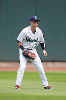 Cedar Rapids Kernels center fielder Casey Scoggins (7) during a game against the Dayton Dragons on July 24, 2016 at Perfect Game Field in Cedar Rapids, Iowa.  Cedar Rapids defeated Dayton 10-6.  (Mike Janes/Four Seam Images)