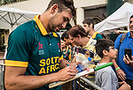Corne Dry of South Africa signs autographs after the team winning Hong Kong Cricket World Sixes 2017 Cup final match between Pakistan vs South Africa at Kowloon Cricket Club on 29 October 2017, in Hong Kong, China. Photo by Yu Chun Christopher Wong / Power Sport Images
