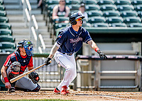 6 June 2021: New Hampshire Fisher Cats infielder LJ Talley at bat against the Binghamton Rumble Ponies at Northeast Delta Dental Stadium in Manchester, NH. The Rumble Ponies defeated the Fisher Cats 9-6 to close out their 6-game series. Mandatory Credit: Ed Wolfstein Photo *** RAW (NEF) Image File Available ***