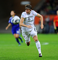 Amy Le Peilbet of team USA during the FIFA Women's World Cup Final USA against Japan at the FIFA Stadium in Frankfurt, Germany on July 17th, 2011.