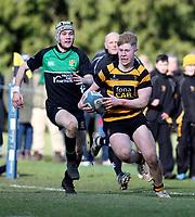 Saturday 17th February 2018 | RBAI vs Sullivan<br /> <br /> Connor McCormick during the Ulster Schools' Cup Quarterfinal between RBAI and Sullivan at Cranmore Park, Belfast, Northern Ireland. Photo by John Dickson / DICKSONDIGITAL