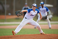 Collin Caldwell (52) during the WWBA World Championship at the Roger Dean Complex on October 13, 2019 in Jupiter, Florida.  Collin Caldwell attends Harrison High School in Powder Springs, GA and is committed to Georgia.  (Mike Janes/Four Seam Images)