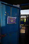 City of Liverpool 6 Holker Old Boys 1, 10/12/2016. Delta Taxis Stadium, North West Counties League Division One. A turnstile at the Delta Taxis Stadium, Bootle, Merseyside before City of Liverpool hosted Hanley Town in a North West Counties League Macron Cup match. Founded in 2015, and aiming to be the premier non-League club in Liverpool, City were admitted to the League at the start of the 2016-17 season and were using Bootle FC's ground for home matches. The match was postponed due to a frozen pitch, City of Liverpool winning the rearranged tie 2-0. Photo by Colin McPherson.