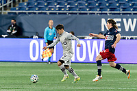 FOXBOROUGH, MA - NOVEMBER 20: Bojan #9 of Montreal Impact brings the ball forward during the Audi 2020 MLS Cup Playoffs, Eastern Conference Play-In Round game between Montreal Impact and New England Revolution at Gillette Stadium on November 20, 2020 in Foxborough, Massachusetts.