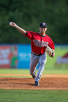 Elizabethton Twins starting pitcher Andro Cutura (13) in action against the Kingsport Mets at Hunter Wright Stadium on July 9, 2015 in Kingsport, Tennessee.  The Twins defeated the Mets 9-7 in 11 innings. (Brian Westerholt/Four Seam Images)