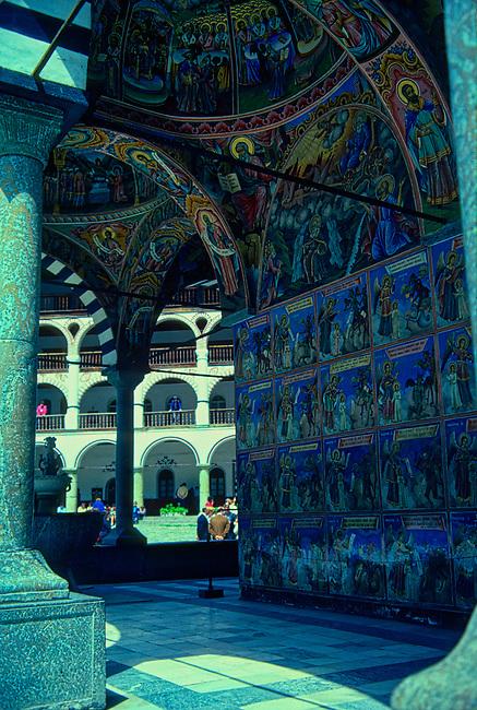 Frescoed Wall, Rila Monastery