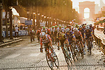 The peloton led by Thomas De Gendt (BEL) Lotto-Soudal on the Champs-Elysees during Stage 21 of the 2019 Tour de France running 128km from Rambouillet to Paris Champs-Elysees, France. 28th July 2019.<br /> Picture: ASO/Pauline Ballet   Cyclefile<br /> All photos usage must carry mandatory copyright credit (© Cyclefile   ASO/Pauline Ballet)