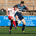Stranraer's Craig Malcolm and Forfar's Darren Dods challenge for the ball.