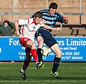 Stranraer's Craig Malcolm and Forfar's Darren Dods challenge for the ball.