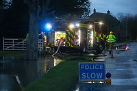Wilsthorpe_Lincolnshire_UK - 19-1-2021 Lincolnshire fire brigade attend to flood houses in the village of Wilsthorpe as Storm Christoph causes havoc in the United Kingdom<br /> <br /> ALL RIGHTS RETAINED PAYMENT AT STANDARD RATE PER IMAGE USE + VAT