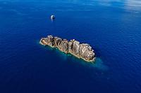 Luftbildaufnahme, Black Rock, Myanmar, Burma, Indischer Ozean, Andamanensee / Aerial View from Black Rock, Republic of the Union of Myanmar, Burma, Andaman Sea, Indian Ocean