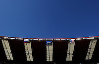 A general view of the roof at Ellis Park with the Slovenia, FIFA, and USA flags flying