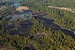 Controlled burn to maintain grasslands, Wilder Ranch State Park, Monterey Bay, California