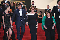 MARINE VACTH, DIRECTOR FRANCOIS OZON, JACQUELINE BISSET AND MYRIAM BOYER - RED CARPET OF THE FILM 'L'AMANT DOUBLE' AT THE 70TH FESTIVAL OF CANNES 2017
