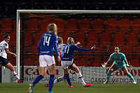 Chloe Kelly of Everton women  scores the first goal during Tottenham Hotspur Women vs Everton Women, Barclays FA Women's Super League Football at the Hive Stadium on 12th February 2020