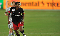 WASHINGTON, DC - SEPTEMBER 12: Donovan Pines #23 of D.C. United during a game between New York Red Bulls and D.C. United at Audi Field on September 12, 2020 in Washington, DC.