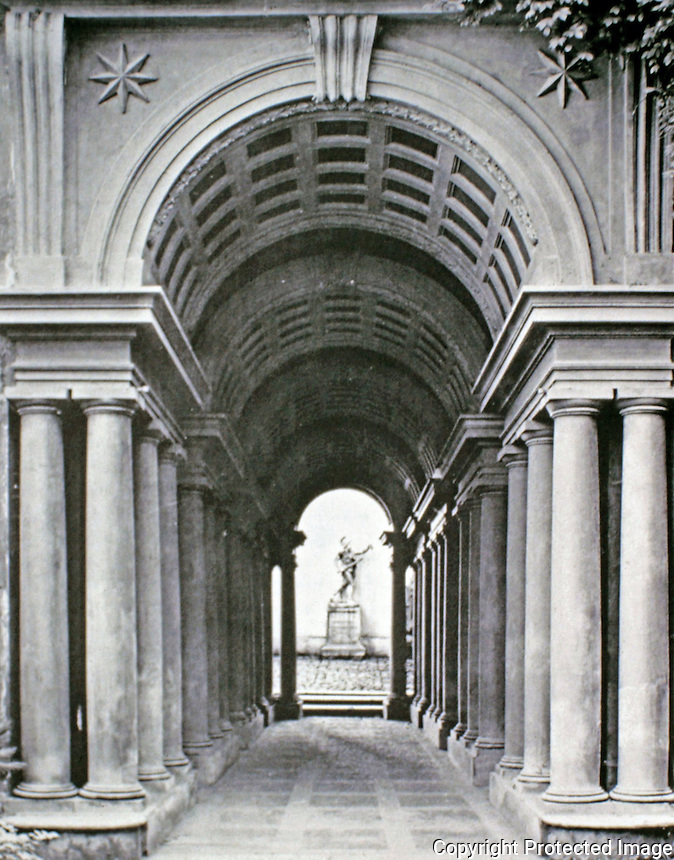 Galleria Spada is a museum in Rome (Italy), which is housed in the Palazzo Spada located in the Piazza Capo di Ferro. The palazzo is also famous for its façade and for the forced perspective gallery by Francesco Borromini.