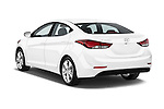 Car pictures of rear three quarter view of 2016 Hyundai Elantra Value Edition 4 Door Sedan Angular Rear