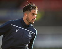 21st November 2020; Somerset Park, Ayr, South Ayrshire, Scotland; Scottish Championship Football, Ayr United versus Dundee FC; Declan McDaid of Dundee during the warm up before the match