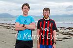 Enjoying Ballyheigue beach on Saturday, l to r: Declan O'Hara and Seanie Griffin.