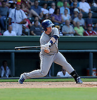 Outfielder Jared Simon (26) of the Asheville Tourists in a game against the Greenville Drive on Sunday, August 26, 2012, at Fluor Field at the West End in Greenville, South Carolina. Greenville won, 5-4. (Tom Priddy/Four Seam Images)